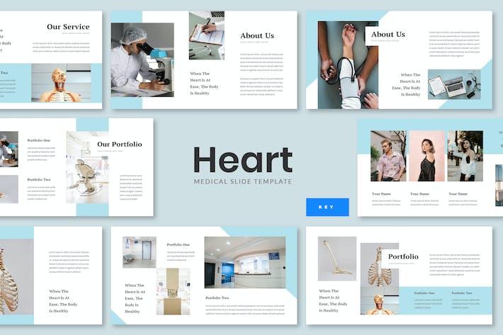 Thumbnail for Heart - Medical Keynote Presentation Template