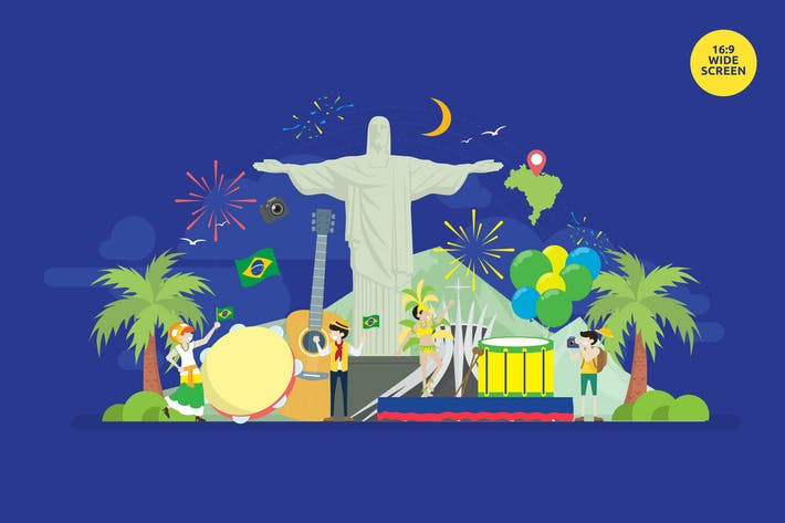 Thumbnail for Brazil Independence Day Carnival Vector Concept