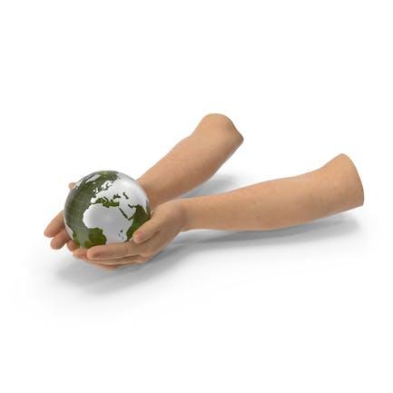 Earth Held In Hands