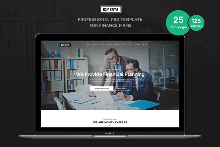 Thumbnail for Experts Business and Finance PSD Template
