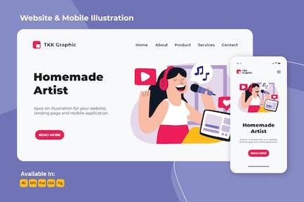 Girl on the move- Homemade artist web & mobile