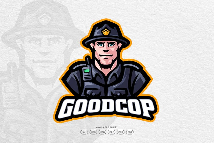 Police Cop Security Guard Justice Law Character
