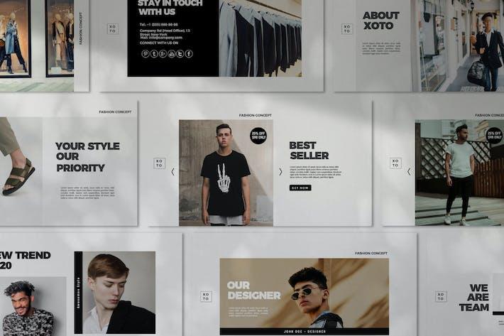 Thumbnail for Xoto - Fashion Minimal Google Slides