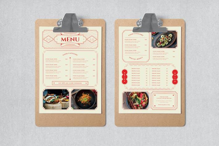 Lunar Chinese Food Menu Set