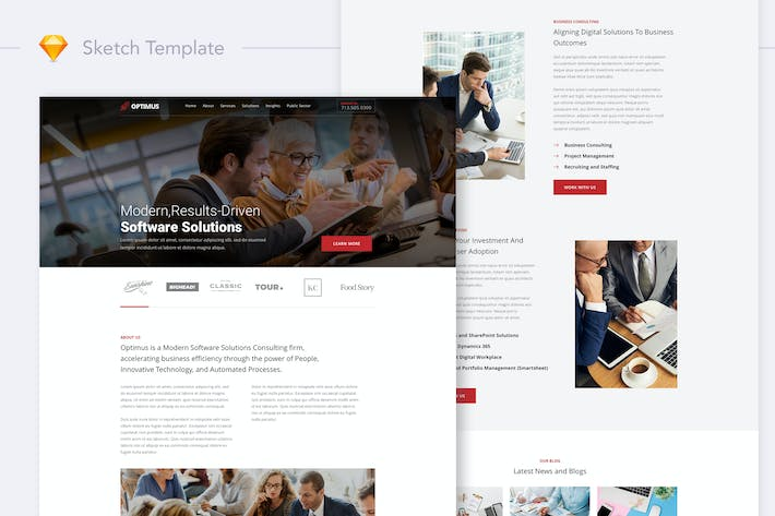 Thumbnail for Optimus - Software Consulting Firm Website Landing