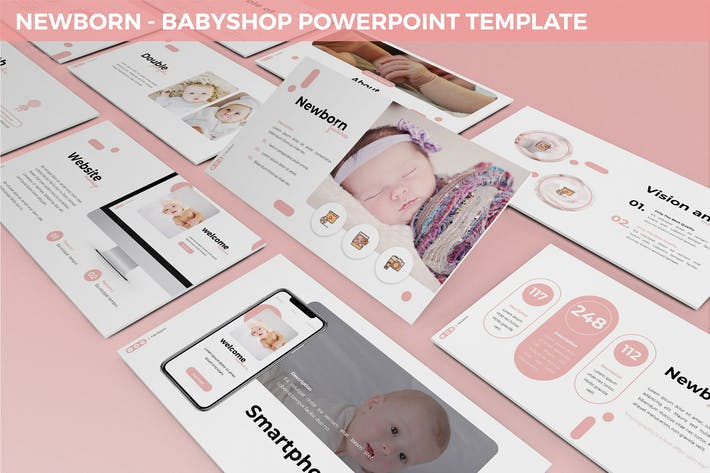 Thumbnail for Новорожденные - Babyshop Powerpoint Шаблон