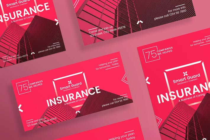 Thumbnail for Insurance Company Flyer and Poster Template