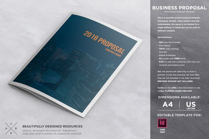 Thumbnail for Business Project Proposal Template
