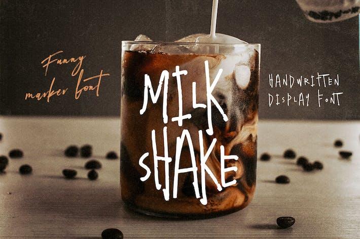 Thumbnail for Milkshake - Fuente escrita a mano loca