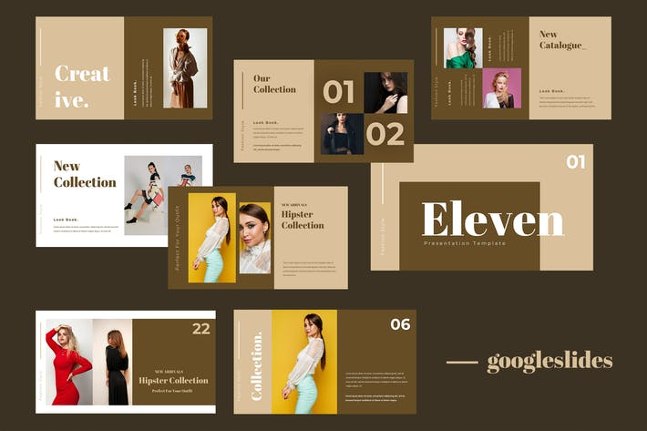 Thumbnail for Eleven - Fashion Google Slides Presentation