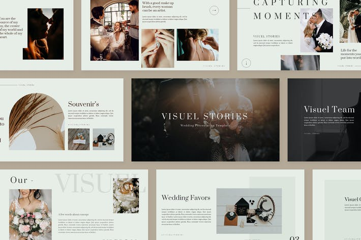 Thumbnail for Visuel Wedding - Powerpoint Presentation