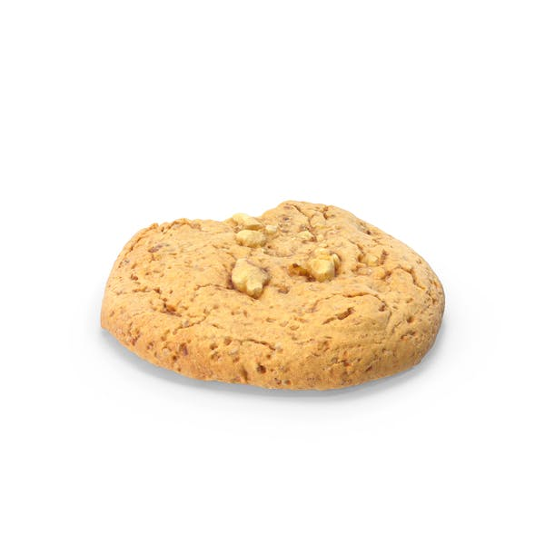 Cookie With Walnuts and Bitten