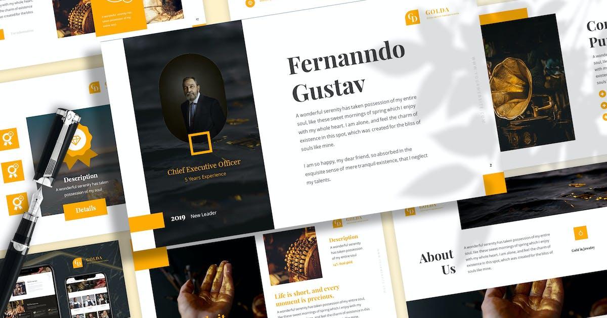 Download Golda - Jewelry Keynote Template by SlideFactory