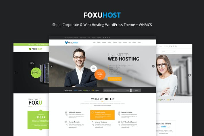 FoxUHhost - Web Hosting WordPress Thema + WHMCS