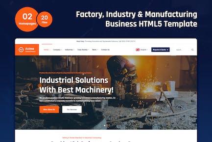 Axima - Fabrik und Industrie HTML5-Vorlage