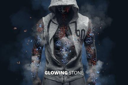 Brillante piedra Photoshop Acción