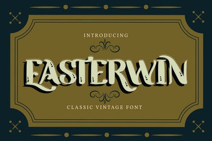 Easterwin | Classic Vintage Font