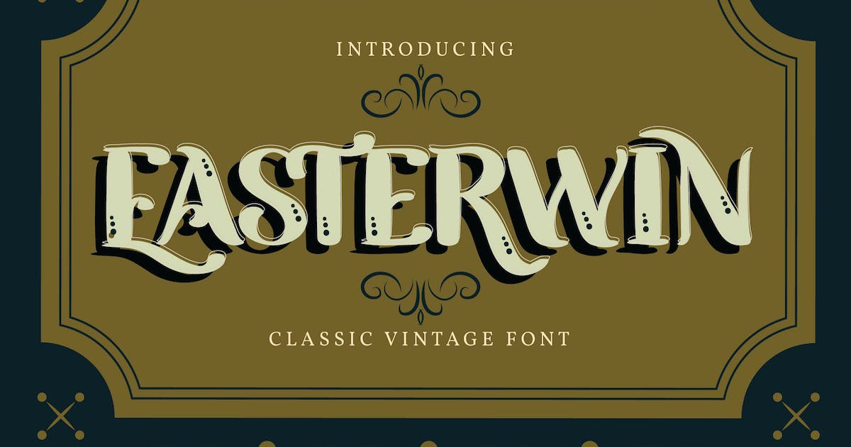Download Easterwin   Classic Vintage Font by Vunira