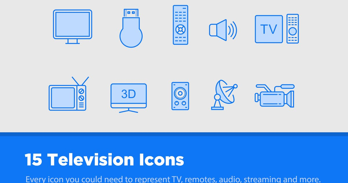 Download 15 TV & Television Icons by creativevip