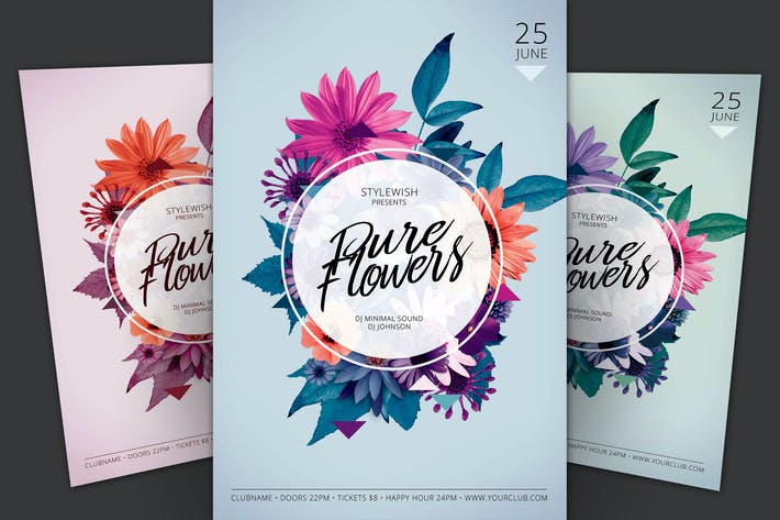 Thumbnail for Pure Flowers Flyer