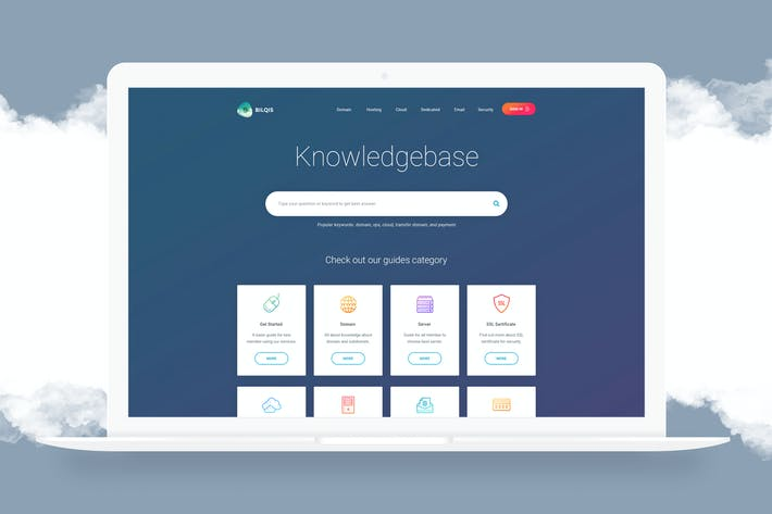 Thumbnail for Knowledgebase Page Template - PSD