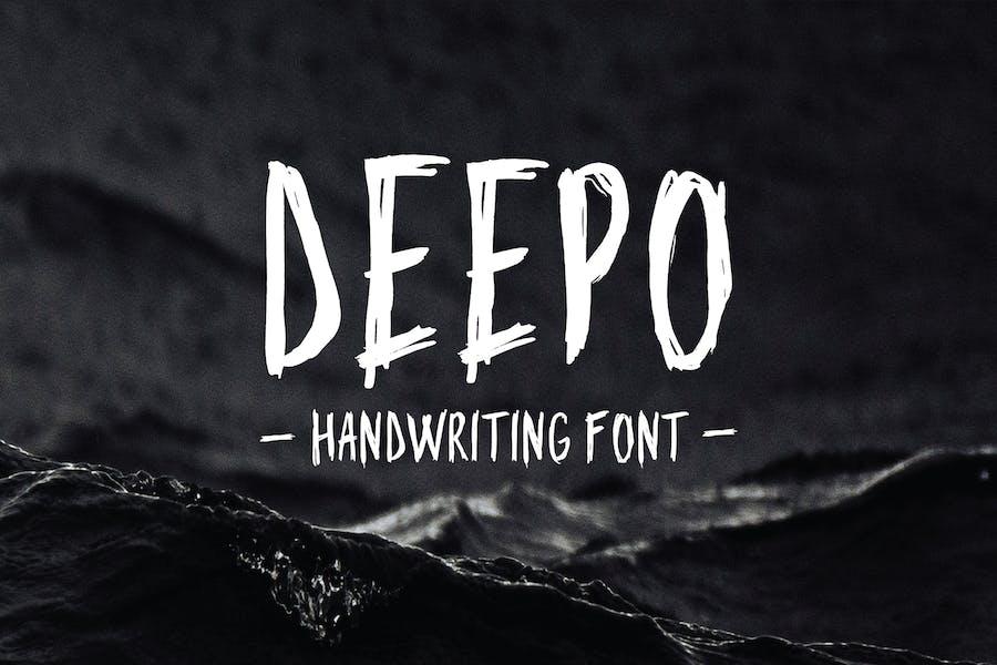 Deepo - Шрифт почерка