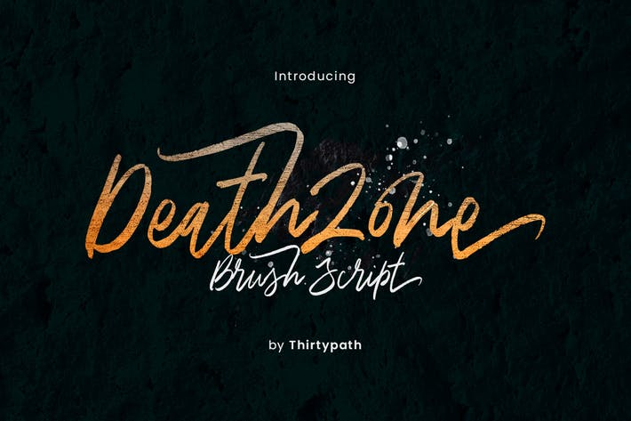 Thumbnail for Death Zone Typeface