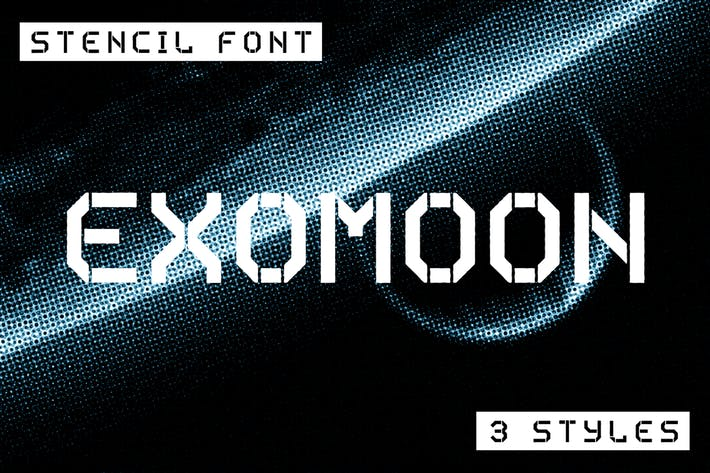 Thumbnail for Exomoon Display Stencil Font