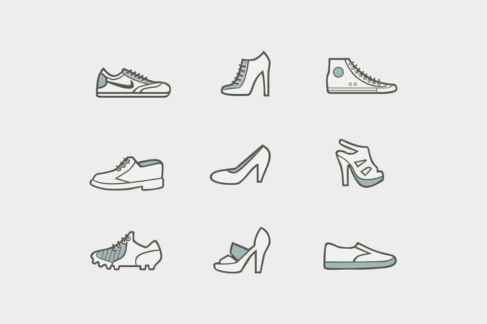 Thumbnail for 9 Shoe Icons and Graphics