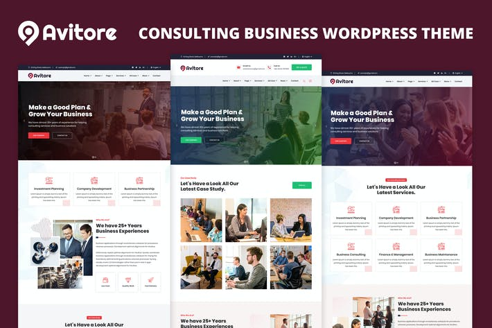 Thumbnail for Avitore - Consulting Business Elementor WordPress