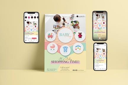 Baby Shop II - Flyer & Instagram Template