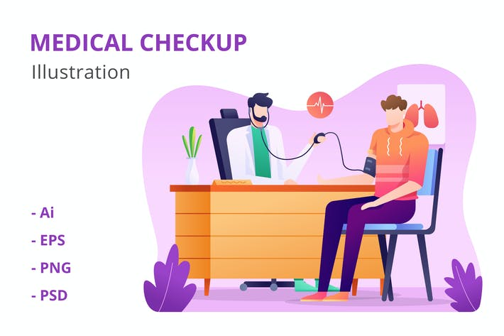 Thumbnail for Medical Checkup Illustration