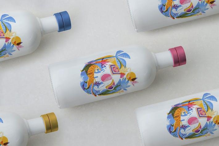 Thumbnail for Porcelain Bottle Mockup