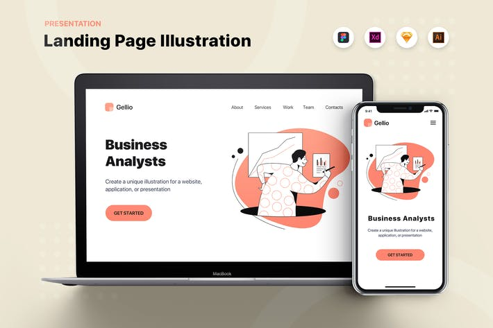 Thumbnail for Business Analysts - Banner & Landing Page