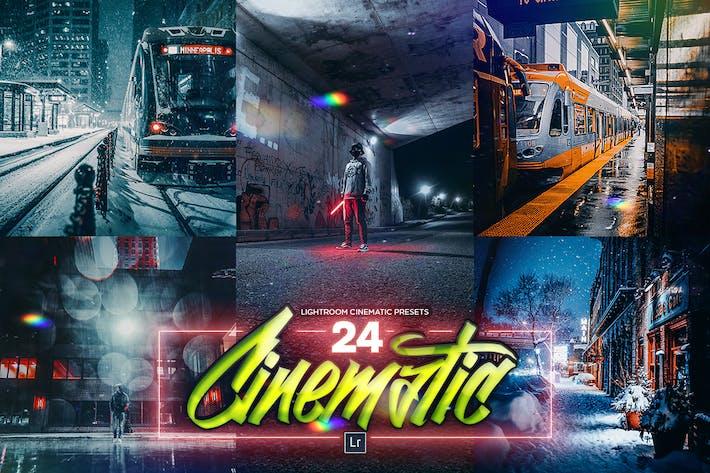 24 Cinematic PRO Lightroom Effects