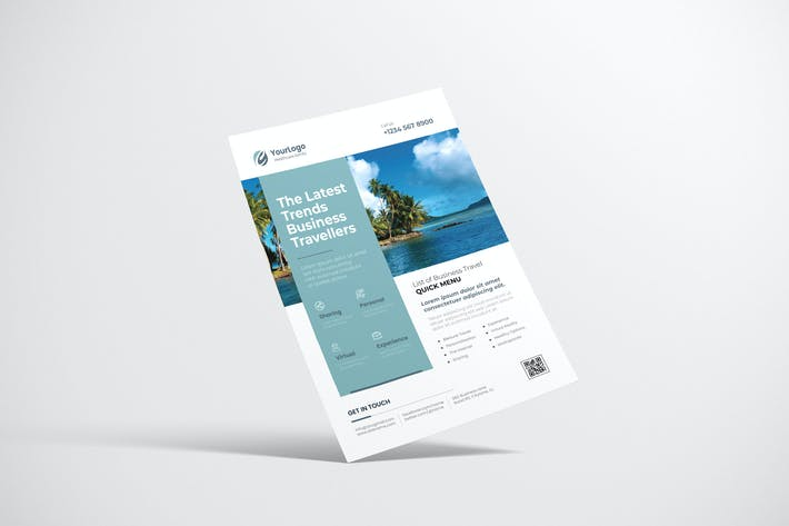 Thumbnail for Travel Flyer Design with Light Blue Color