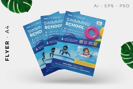 Schwimmbad-Flyer Design