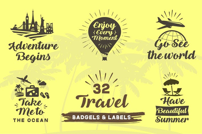 Cover Image For Travel Badge and Label Set
