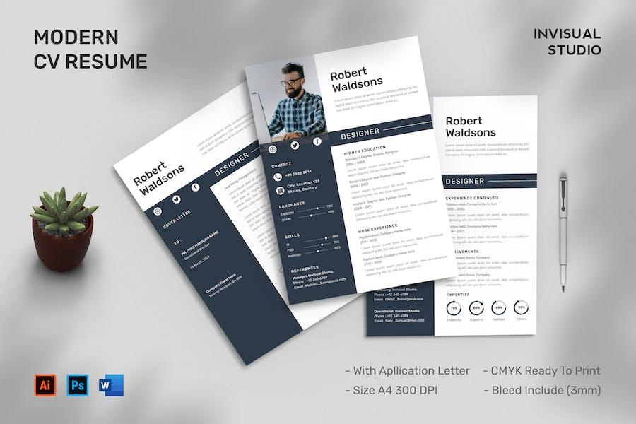 CV Resume & Cover Letter Template