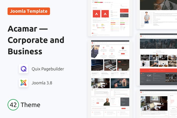 Thumbnail for Acamar — Tiled Layout Responsive Joomla Template