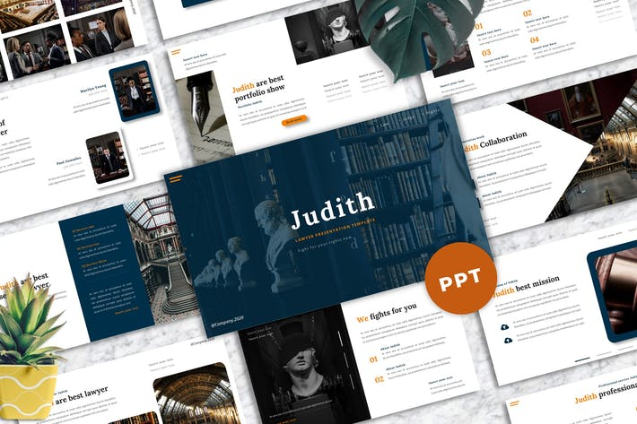 Thumbnail for Judith - Lawyer Powerpoint Template