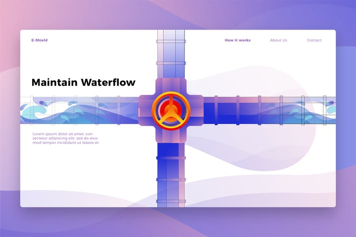 Thumbnail for Wartung Wasserfluss - Banner & Landing Page