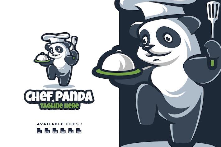 Thumbnail for Kungfu Chef Panda Cartoon Logo