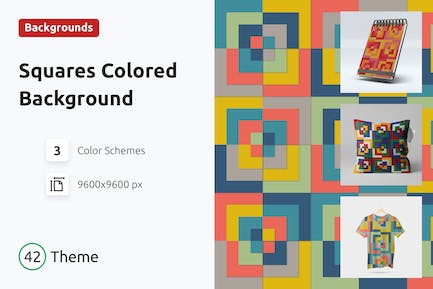 Background Square Colored Shapes