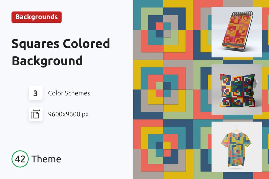 Hintergrund quadratische farbige Formen
