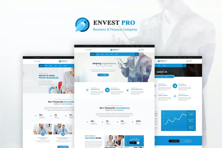 Thumbnail for Envest Pro - Business Multipurpose PSD Template