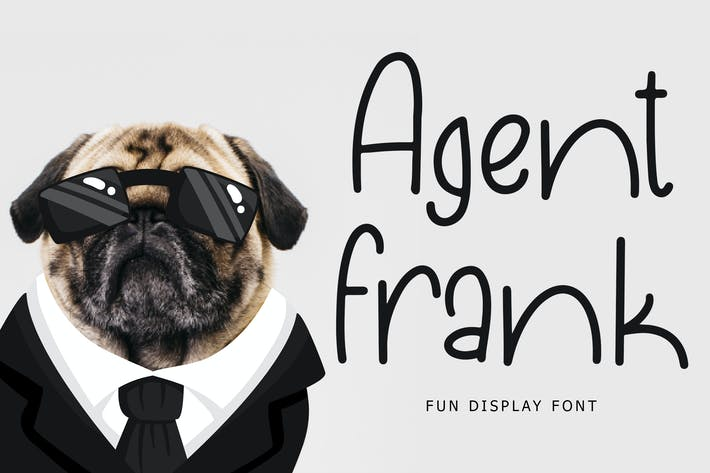 Thumbnail for Fun Display Шрифт Agent Frank