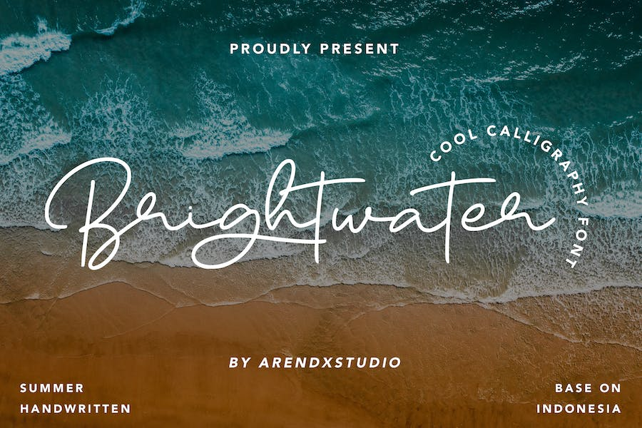 Brightwater - Cool Calligraphy Font