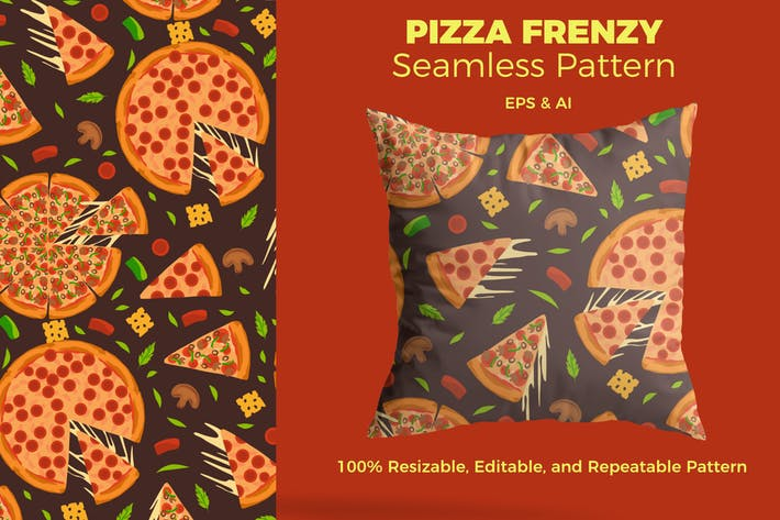 Thumbnail for Pizza Frenzy Pattern