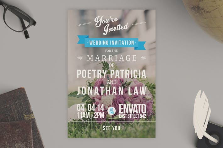 Thumbnail for Typography Wedding Invitation